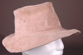 Vtg Henschel Hat-Real Leather-Made in Australia-Extra Small-Soft Leather - $23.36
