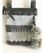 Juicy Couture Choose Juicy Sparkle Gray Hombre Pom-Pom Crossbody Bag - $30.84