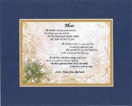 Personalized Touching and Heartfelt Poem for Mothers - A Mother Always Understan - $22.72