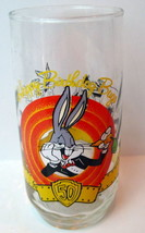 Bugs Bunny Rabbit Happy Birthday 50th Glass Looney Tunes 1990 - $10.64