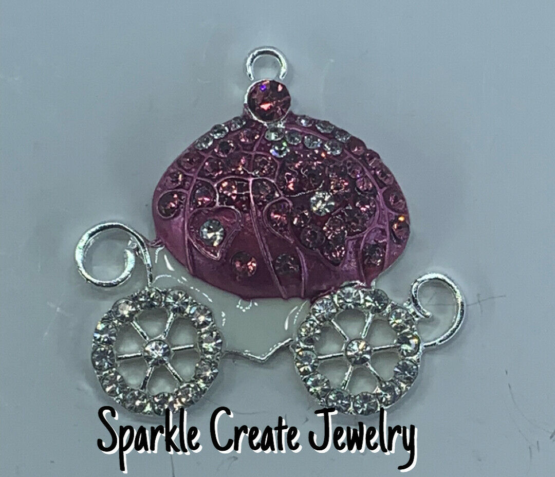PINK PRINCESS CARRIAGE PENDANT