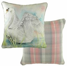 EVANS LICHFIELD COUNTRY MANOR SWAN TARTAN CHECK MADE IN UK CUSHION COVER... - £8.72 GBP