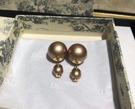 AUTH NEW Christian Dior 2019 DIOR TRIBALES EARRINGS PINK STAR DOUBLE PEARL  image 4