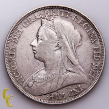 1896 Great Britain Crown Silver Coin, KM# 783 - $78.21
