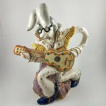 Fitz & Floyd RARE Elvis Presley Bunny Rabbit Ceramic Water Pitcher Large Vintage - $258.40