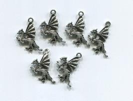 6 dragon charms fantasy charms dragon pendants ... - $2.40