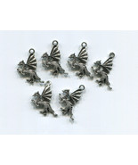 6 dragon charms fantasy charms dragon pendants ... - $2.40