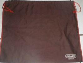 """Coach Drawstring Brown Dustbag Dust Bag 19.5"""" x 15"""" - $9.99"""