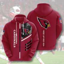 NFL-Arizona-Cardinals Rise Up Red Sea 3D Hoodie Unisex Size S-5XL , Gifts For Fa - $33.82+
