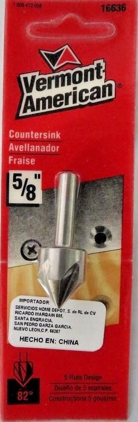 "Primary image for Vermont American 16636 5/8"" High Speed Steel Countersink"