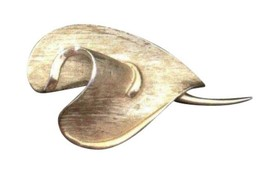 Vintage Gold Toned Costume Jewelry Brooch Designer Signed Coro Leaf Design - $20.19