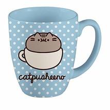 Pusheen 18 oz Mug - Polka Dot Catpusheeno Mug Blue - $14.06