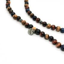 Silver Necklace 925 with Snake and Tiger's Eye Made in Italy by Maschia image 6