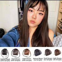 Superlike Clip in Bangs Dark Brown Human Hair Bangs with Temple One Clip Invisib
