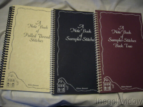 Note Books of Sampler Stitches; Book Two, One and Three