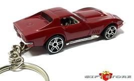 HTF KEY CHAIN 69/1969/1970 DARK RED CHEVY CORVETTE 427 C3 CUSTOM LIMITED... - $34.98