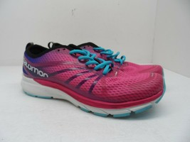 Salomon Women's Sonic RA Pro Trail Running Shoes Pink/Surf Size 11M - $66.49