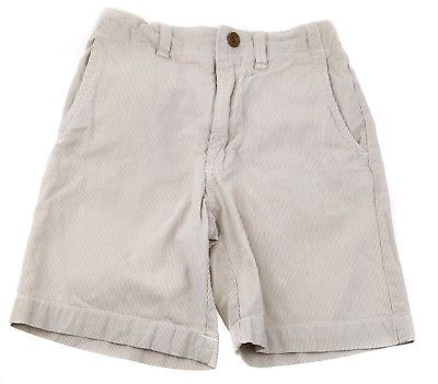 GAP Kids Boys Cotton Pin Stripe Sailing Shorts Adjustable Waist Beige Ivory 5 6