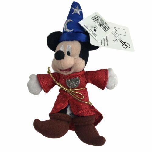 2004 Disneyland Sorcerer's Apprentice Mickey Mouse Mini Plush Disney New - $11.26