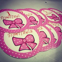 Monthly girls stickers. Pinkbow bodysuit month stickers. Pink bow small ... - $7.99