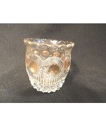 Crystal & Gold Pressed Glass Toothpick Manhattan  US Glass 1898 - $9.99