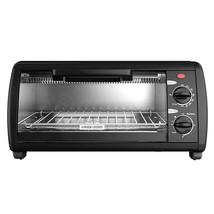 Black & Decker TO1412B 4-Slice Toaster Oven, Black - $72.27