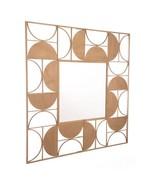 """39.4"""" X 0.8"""" X 39.4"""" Geometric Gold Steel Mirror - $295.98"""