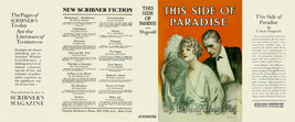 Fitzgerald THIS SIDE OF PARADISE facsimile jacket for 1st ed/early (NO B... - $31.89
