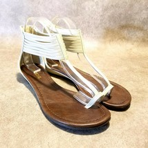 Soda Womens Sz 8 M Tan Toe Ring Ankle Strap Sandals - $24.99