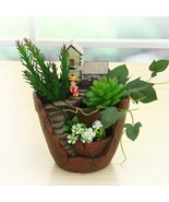 Flower Pot Creative Novelty Castle House Shaped Resin Bonsai Plant Garde... - $24.99