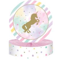 """Unicorn Sparkle 12"""" x 9"""" Foil Honeycomb Centerpiece, Case of 6 - $37.06"""