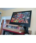 Rare Alex Ross Signed Mounted Mytholgy HUGE print 38x32 OOP Shazam Legio... - $4,999.97