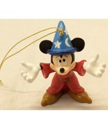 Mickey Mouse Ornament Wizard Fantasia Wizard Red Robe Star Moon Hat 3 In... - $29.45