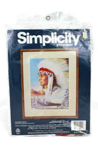 Simplicity The Great Spirit  Native American Snow Trees Stitchery Kit 05044 - $11.87