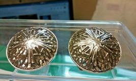 "Vintage Jewelry: 1"" Silver Tone Clip On Filigree Design Earrings 04-01-2019 - $8.99"