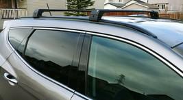 Fits Hyundai Santa Fe Alu Black Roof Rack Cross Bar Flush Rail Lockable 2013-19 - $102.76