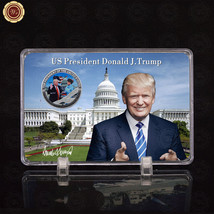 WR Jan.20 Donald Trump Inauguration Silver Commemorative Coin with Photo... - $9.50