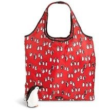 cute! Vera Bradley Collapsible Tote in Playful PENGUINS Reusable Bag NEW... - $34.60