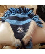 Pittsburgh Penguins blue knit Sweater Trapper Flapjack Winter Hat w/ fau... - $25.00