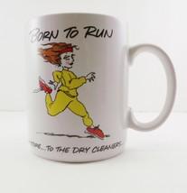 Vintage Coffee Mug Born to Run Shoebox Greetings 1987 Hallmark - $10.88