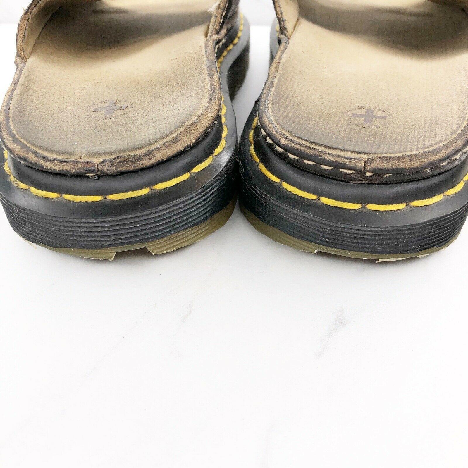 Dr. Martens Women's 6 M Brown Leather Sandals Slides Shoes image 5