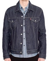 NEW LEVI'S MEN'S PREMIUM BUTTON UP DENIM JEANS JACKET RELAXED RIGID 723350005