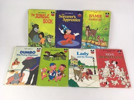 Lot of 7 Walt Disney Wonderful World of Reading Vintage Mickey Childrens... - $10.99
