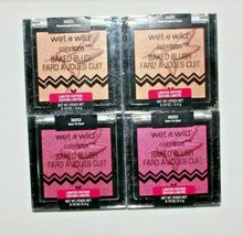 4 Pack Wet n Wild Color Icon Baked Blush Hummingbird Hype & Dare To Soar 0.19 oz - $10.02