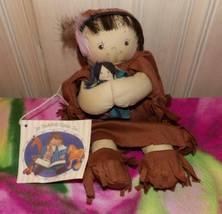 Jan Shackelford H/S 1995 Native American Girl Holding Soft Safely Bundle... - $18.99
