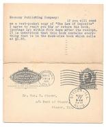 UY4 Postal Stationery Reply Paid Card 1911 Economy Publishing Geo Steger... - $6.21 CAD