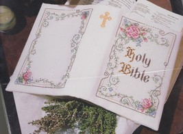 "Bucilla 5.5"" x 8.5"" Holy Bible Cover Religious Stamped Cross Stitch Kit 40876 - $24.95"