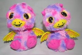 Hatchimals Surprise Giraven Twins Interactive Talking Toy Pink & Purple Pair - $18.99
