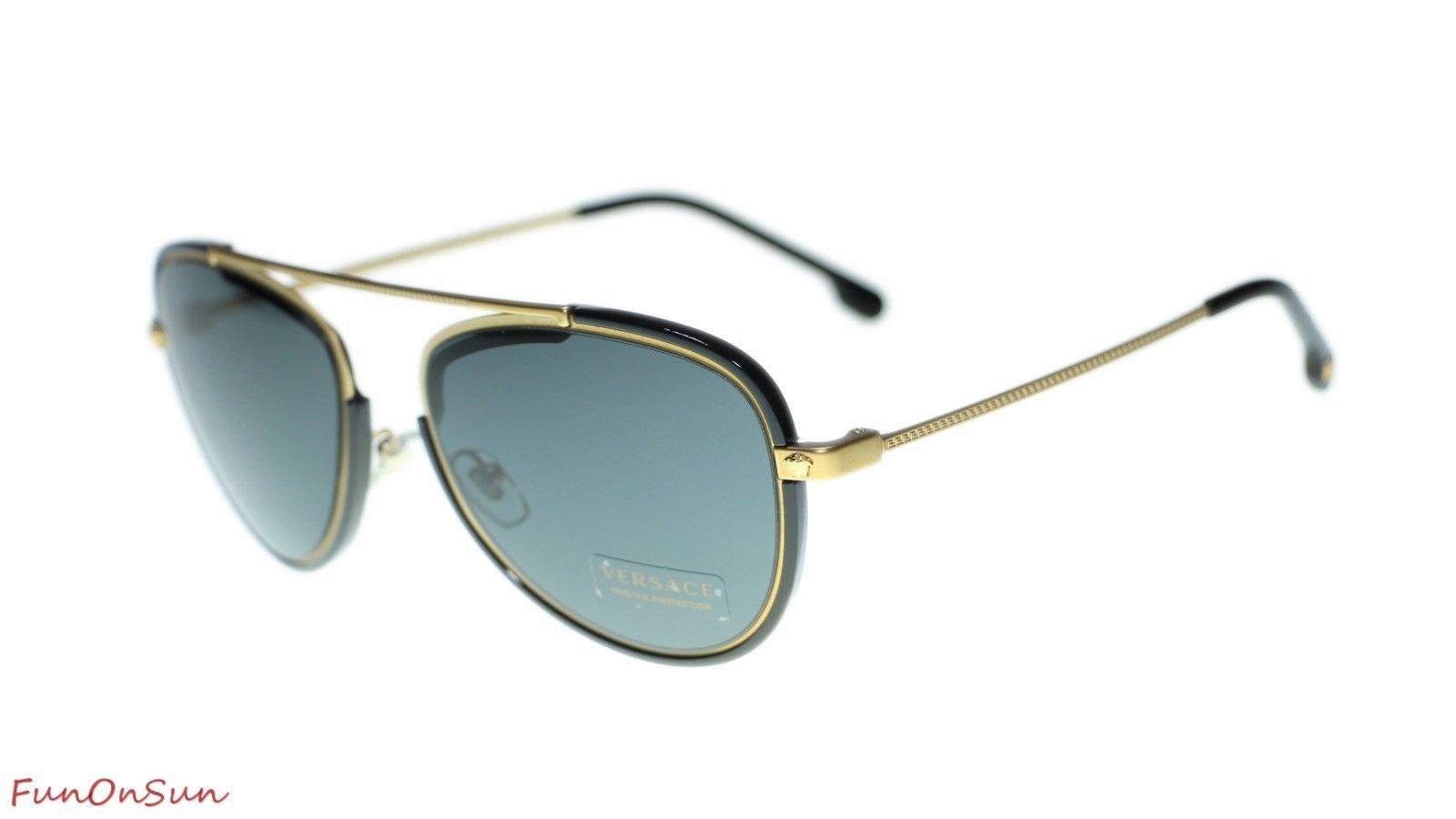 4bce4a1b7434 Versace Men Pilot Sunglasses VE2193 142887 and 23 similar items. 10