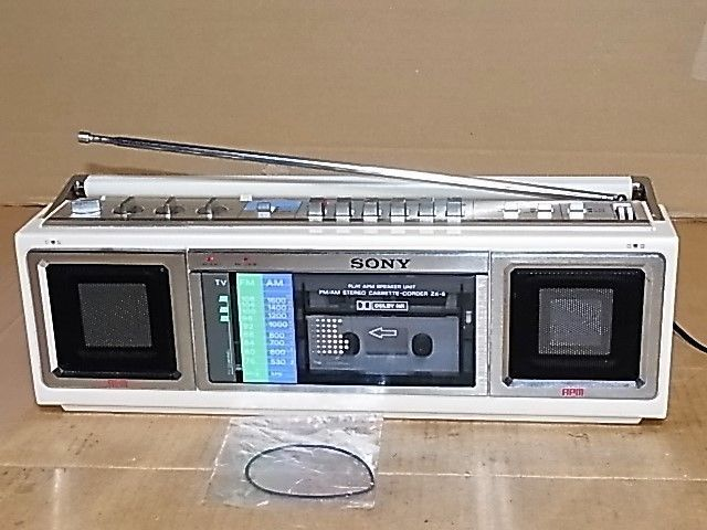 Primary image for SONY ZX-5 Stereo radio cassette flat speaker APM installed